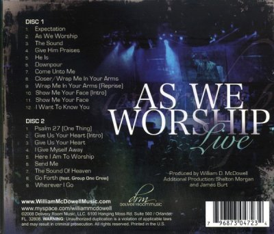 As We Worship: Live- William McDowell