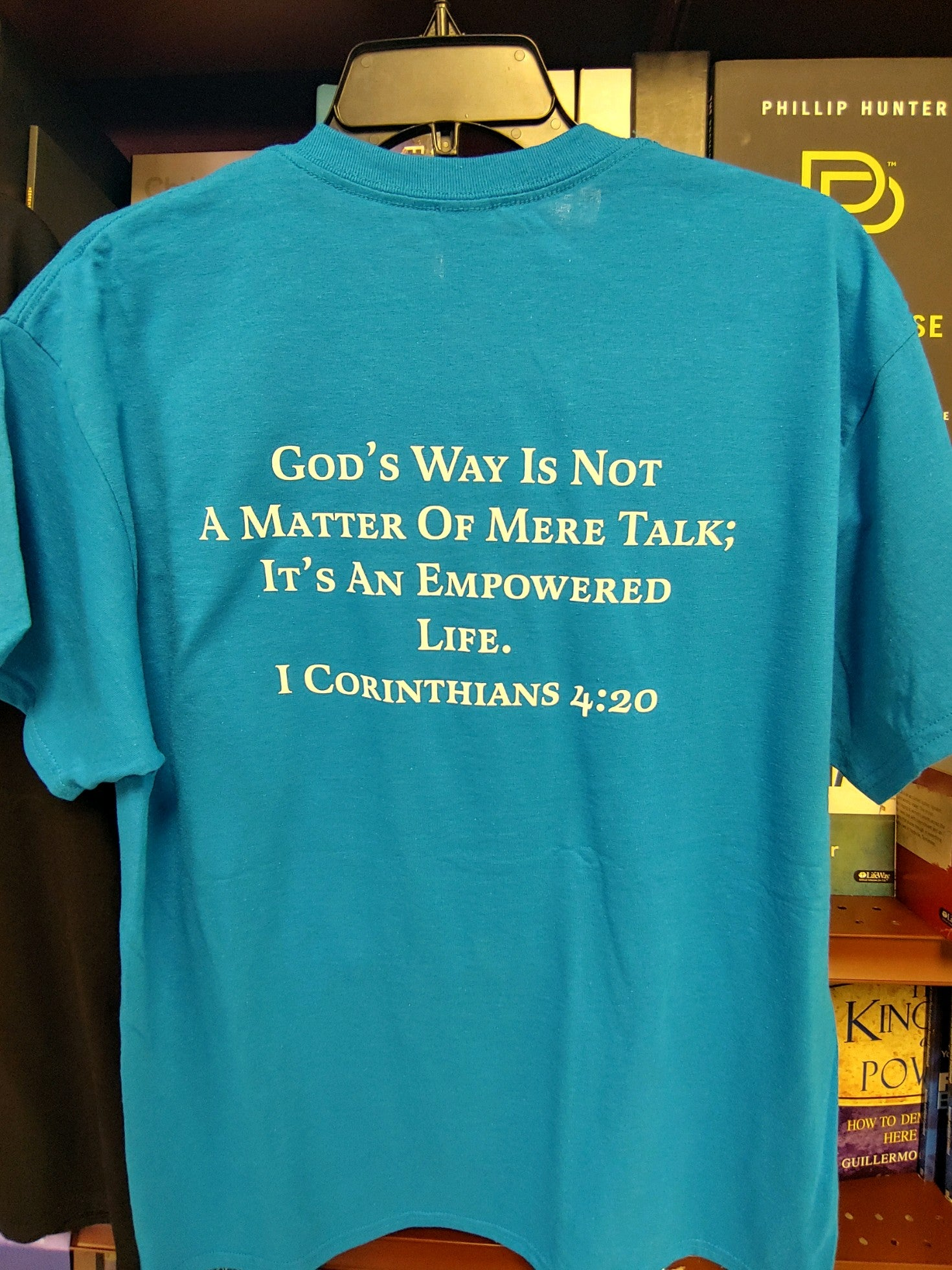 Empowered Life T-shirt - blue