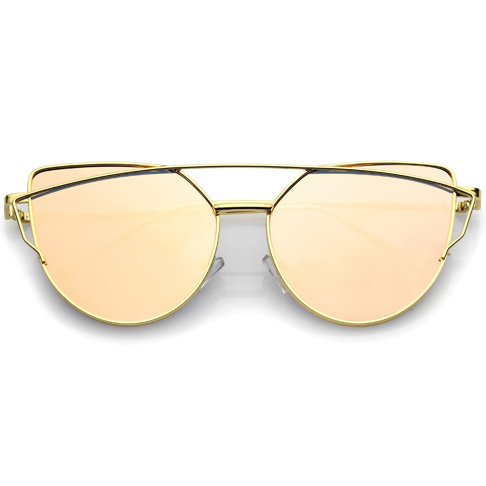 db21b7f72 Oversize Metal Frame Thin Temple Color Mirror Flat Lens Aviator Sunglasses  56mm - Glo Suite