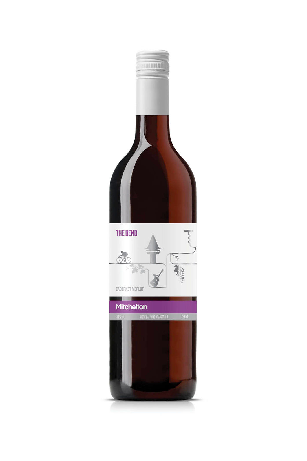 MITCHELTON THE BEND CAB MERLOT 2014