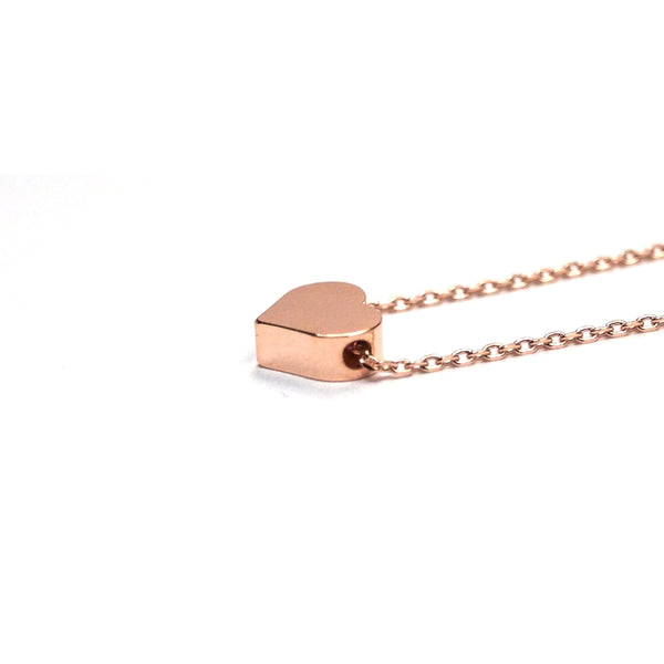 tiny rose gold heart jewelry