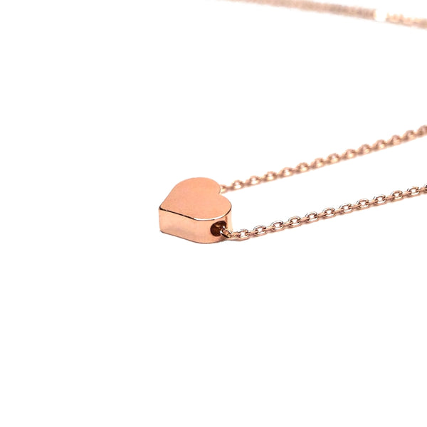 small rose gold heart jewelry