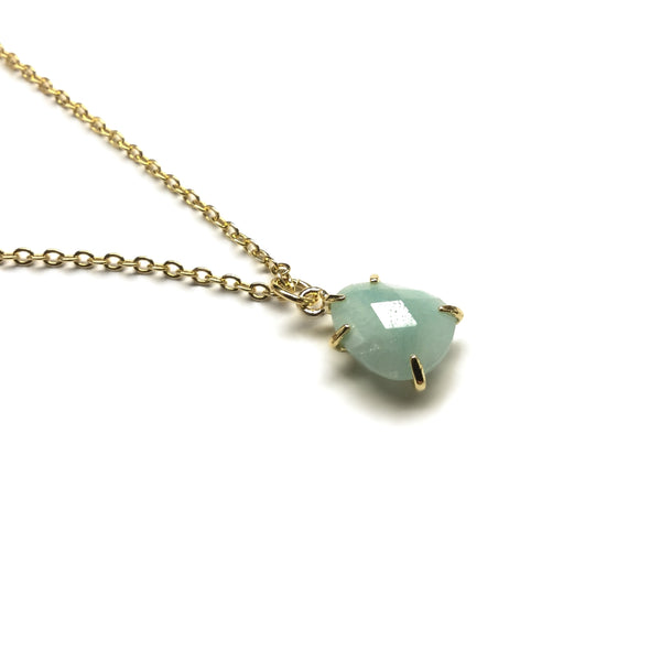 teardrop amazonite gemstone necklace