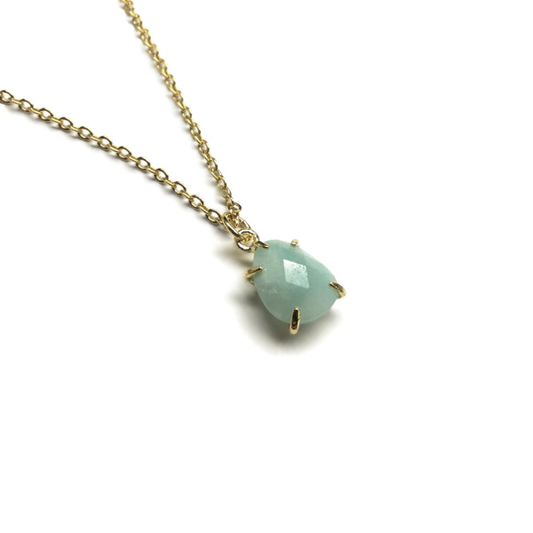 teardrop gemstone amazonite pendant