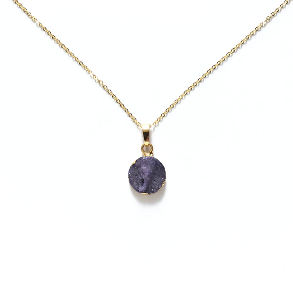 Amethyst Druzy Necklace