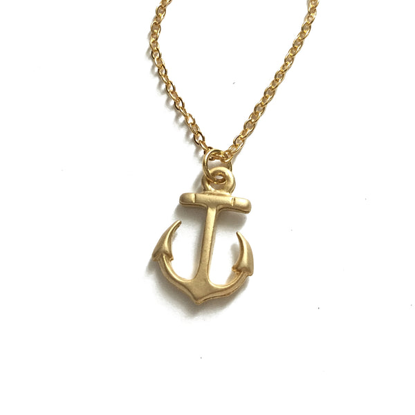 Gold Plated Anchor Necklace