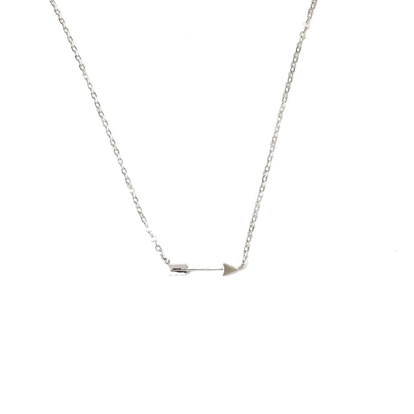 Tiny Silver plated Arrow Necklace