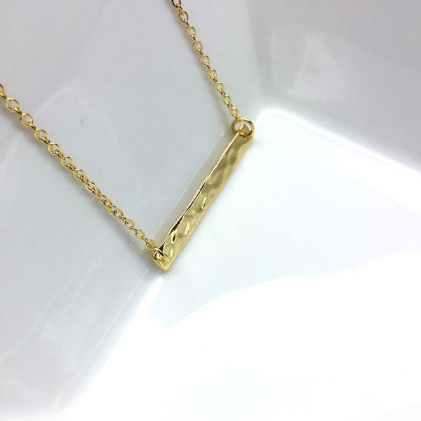 gold bar hammered jewelry
