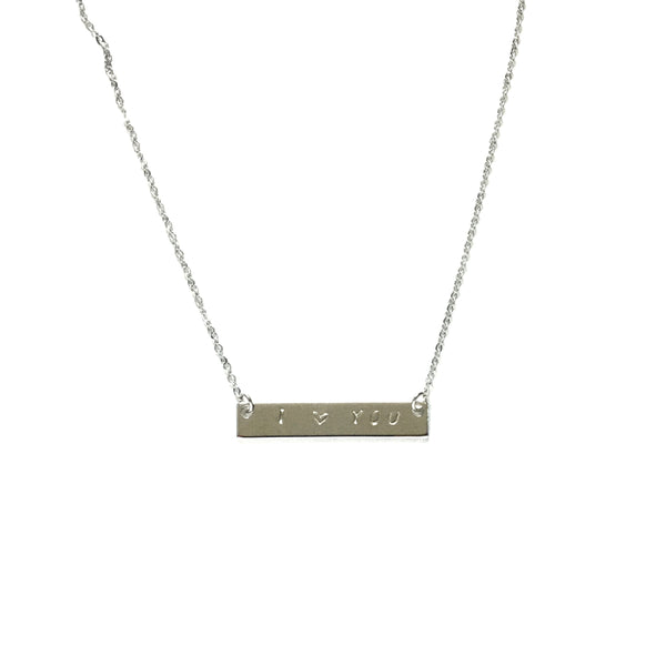 Silver Bar Personalized Inspiration Necklace