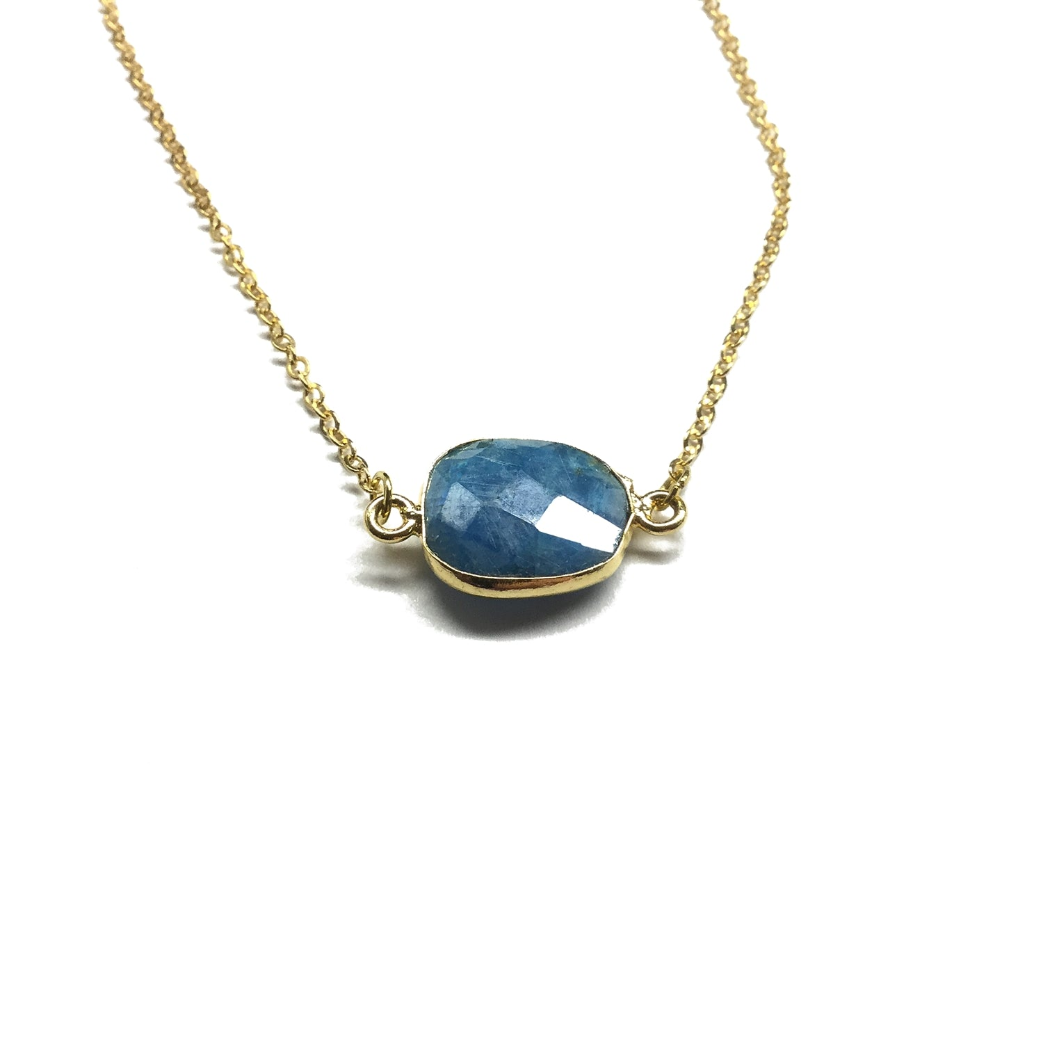 sapphire moonstone necklace