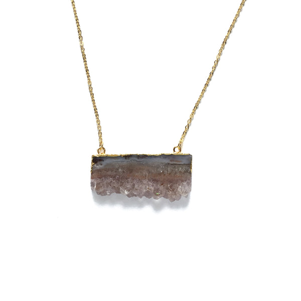 Occo Druzy Slice Necklace