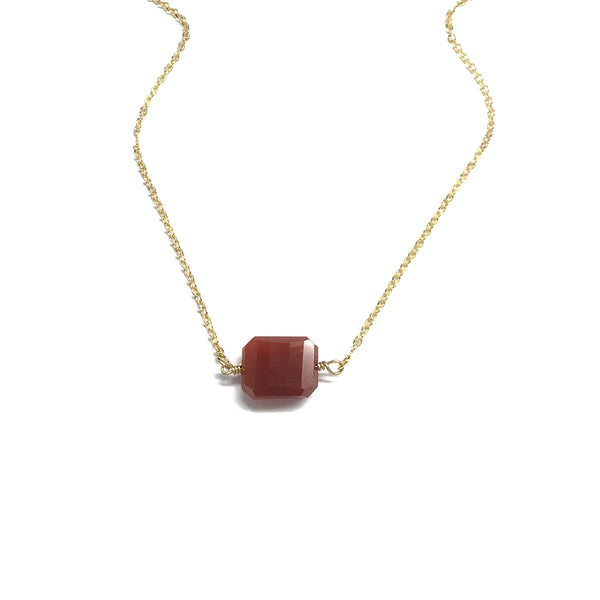 carnelian semi precious necklace