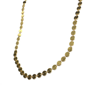 Gold Dot Disc Chain Necklace