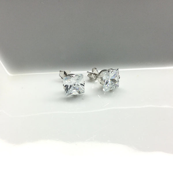 cubic zirconia post stud earrings