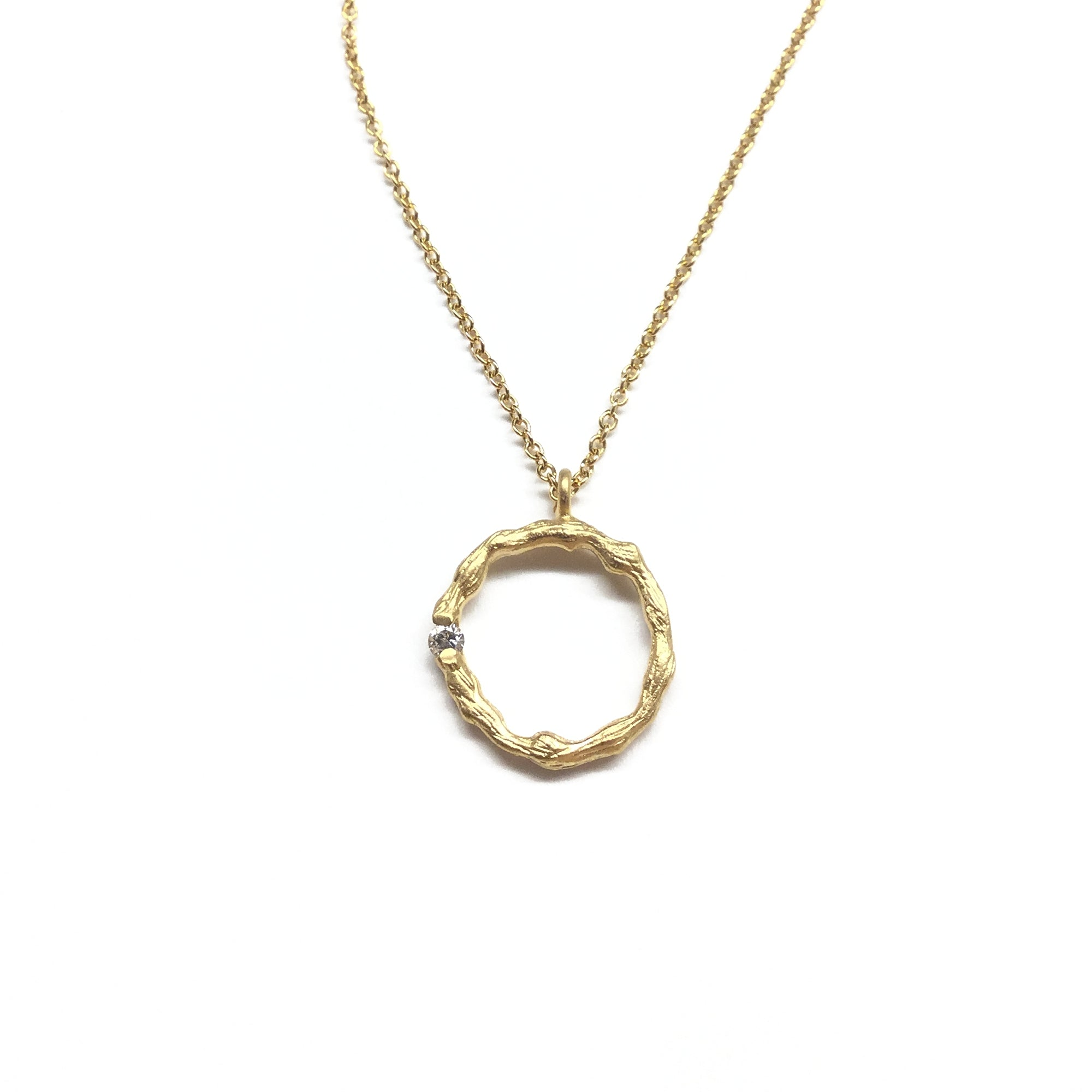 infinity cz diamond gold necklace