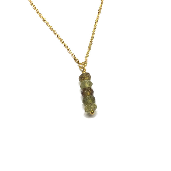 Natural Green Garnet Gemstone Necklace