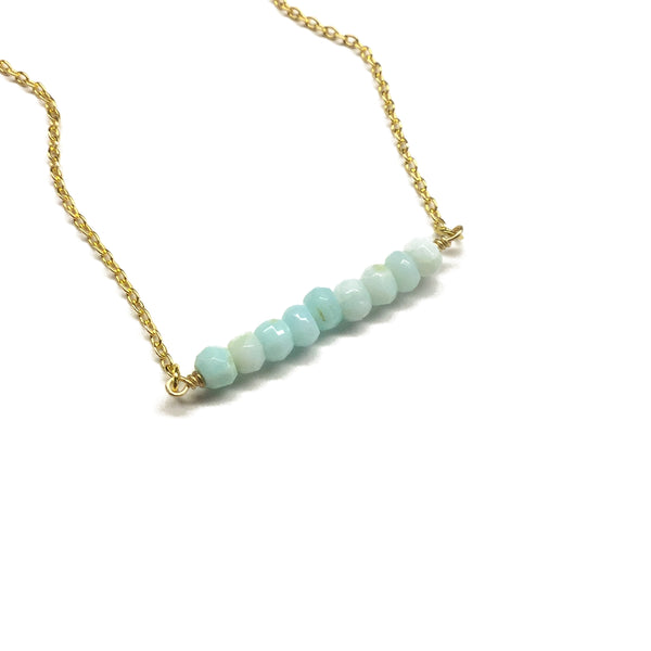 blue opal gemstone bar jewelry