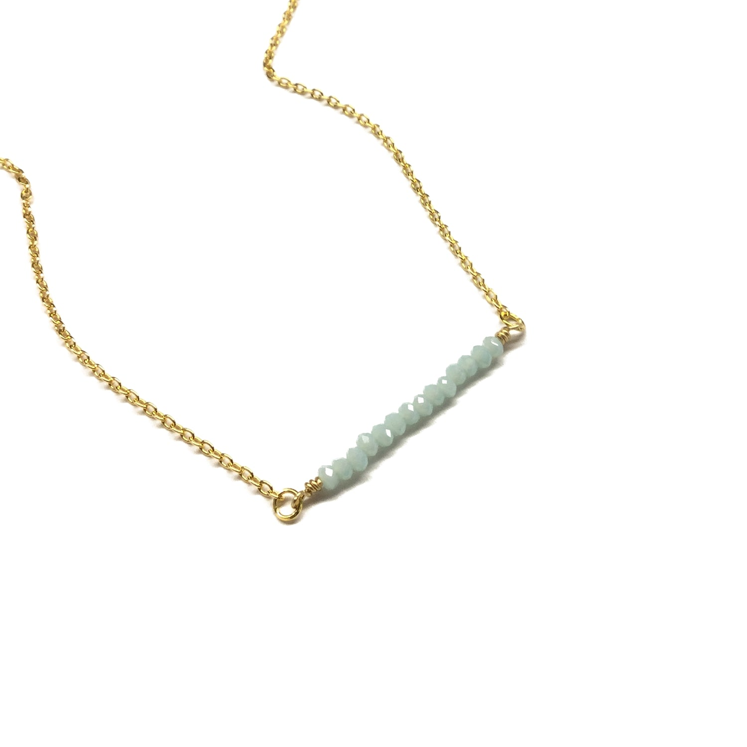 amazonite gemstone bead bar jewelry