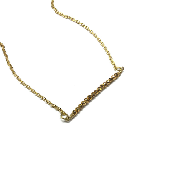 faceted pyrite gemstone necklace