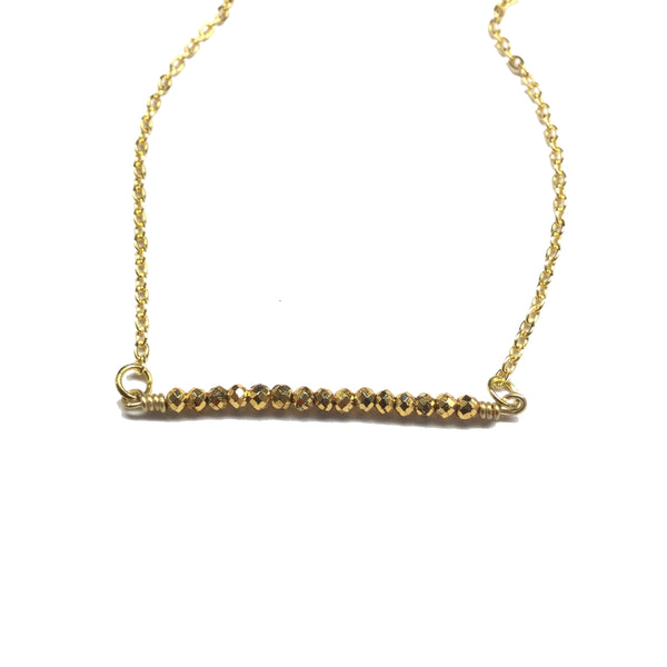 gold pyrite necklace