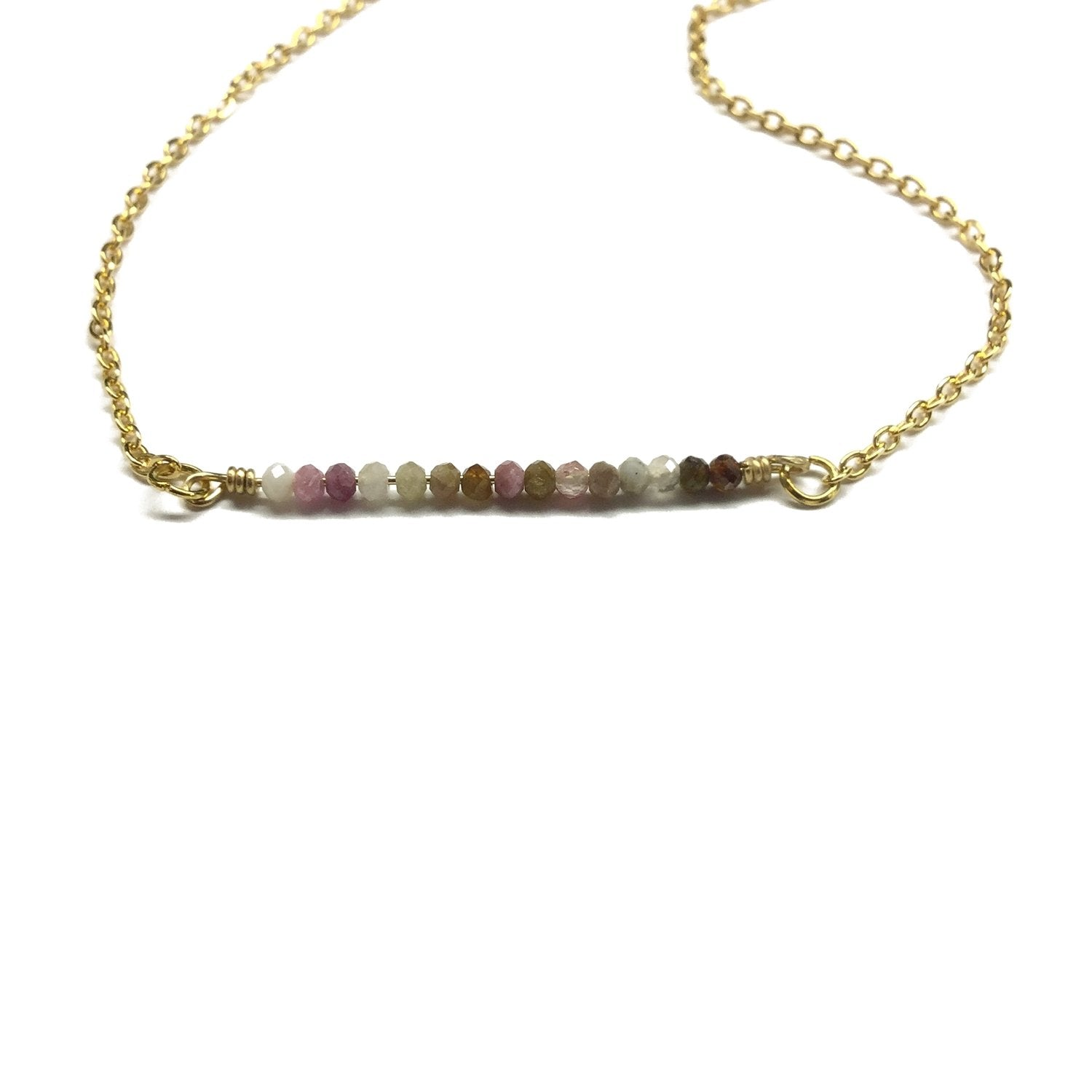 Tourmaline Gemstone Bar jewelry