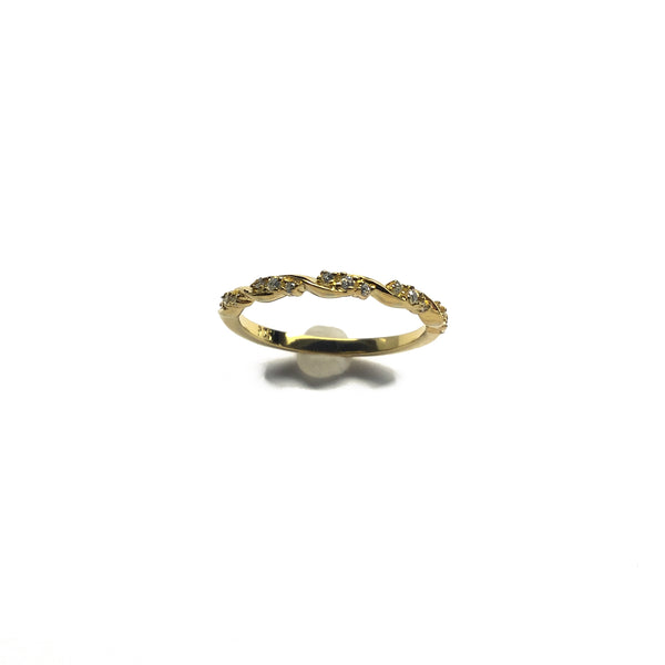 gold stacking ring cz