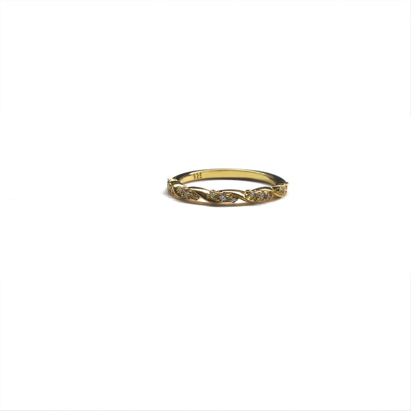 gold cubic zirconia diamond ring
