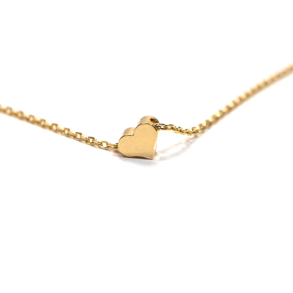 Gold plated heart shaped necklace