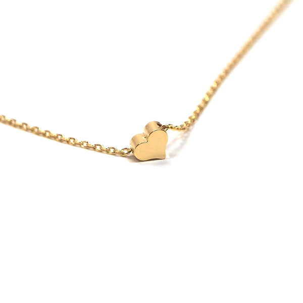 Tiny Gold plated Heart Necklace
