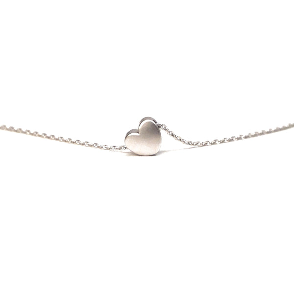 dainty silver plated heart necklace