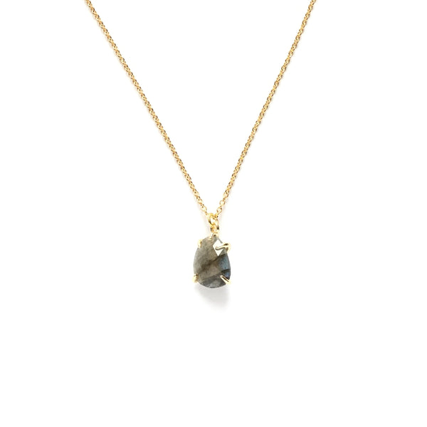 Labradorite Gemstone Teardrop Necklace