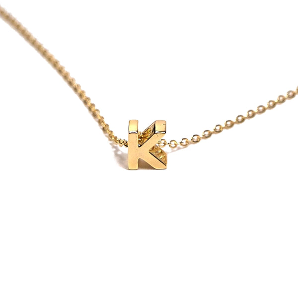 gold personalized initial necklace