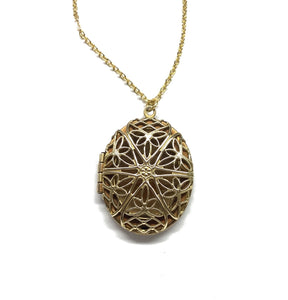 oval filigree locket