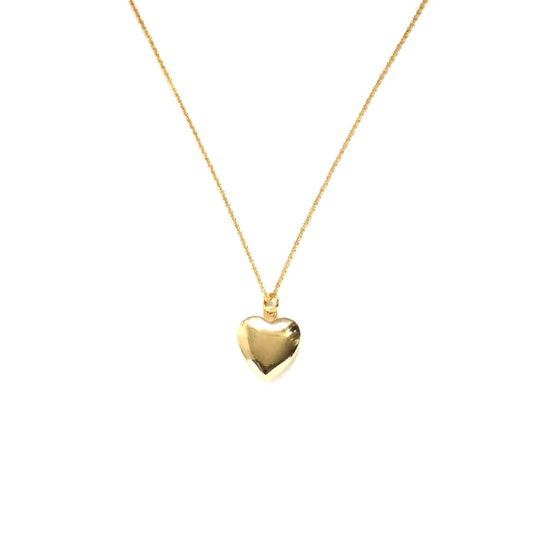 Tiny gold plated heart locket necklace