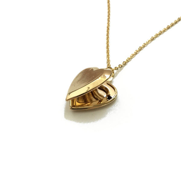Gold plated over brass heart locket