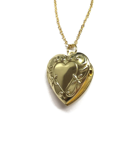 gold heart locket