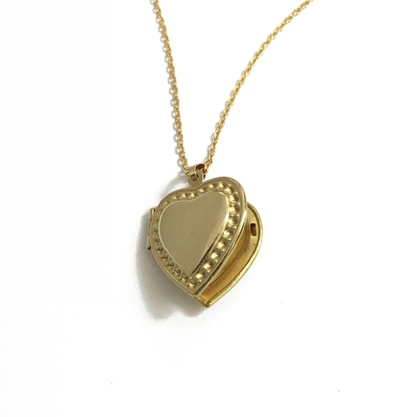 gold plated locket heart keepsake heirloom