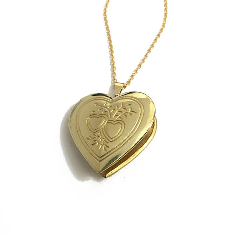 golden heart locket