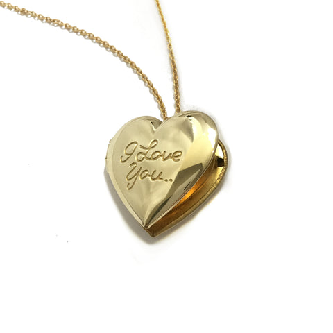 I love you heart locket necklace
