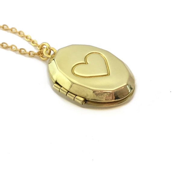 oval heart locket