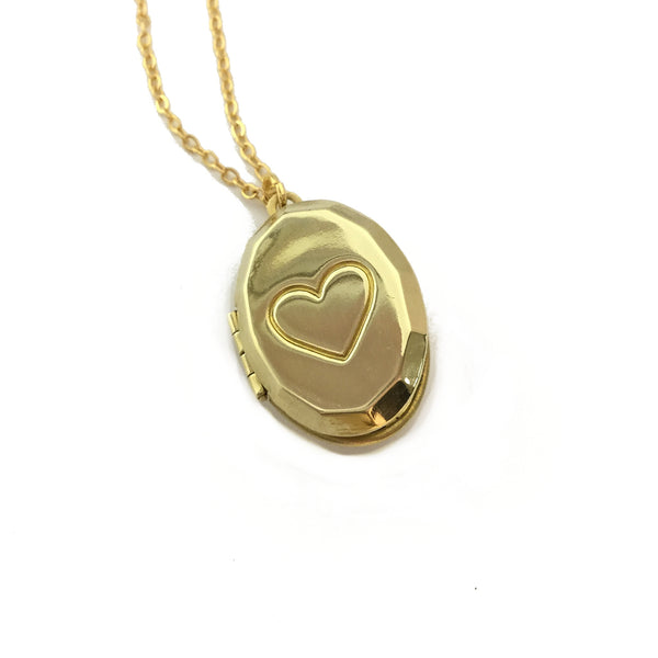 keepsake heart locket necklace