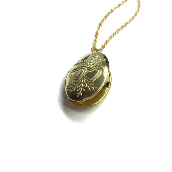 oval hearts locket
