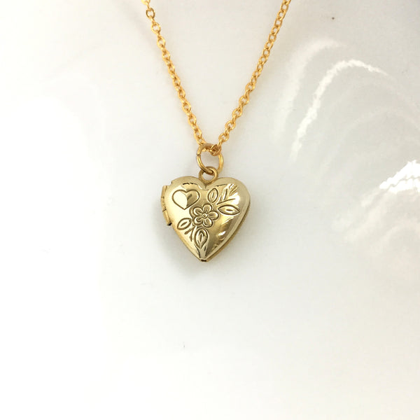 tiny keepsake heart locket