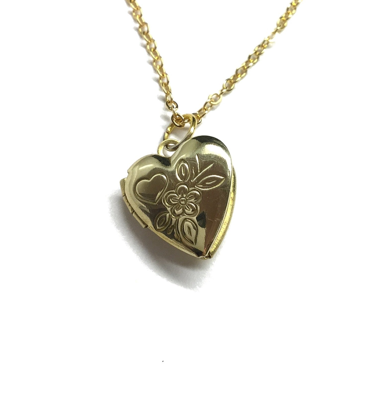 small keepsake heart locket necklace