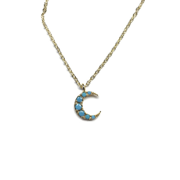 crescent moon turquoise necklace