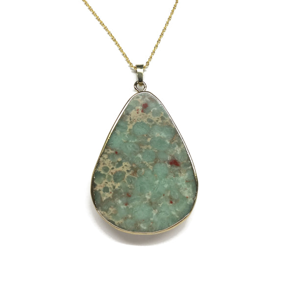 Green Jasper Gemstone Necklace