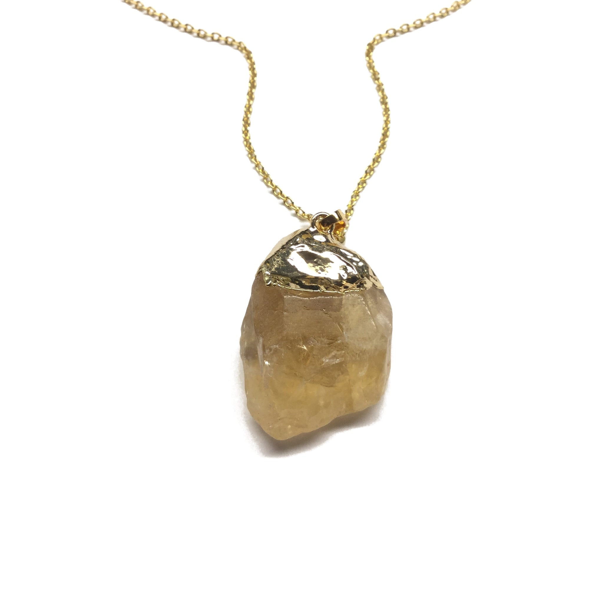 Natural Citrine Quartz Necklace