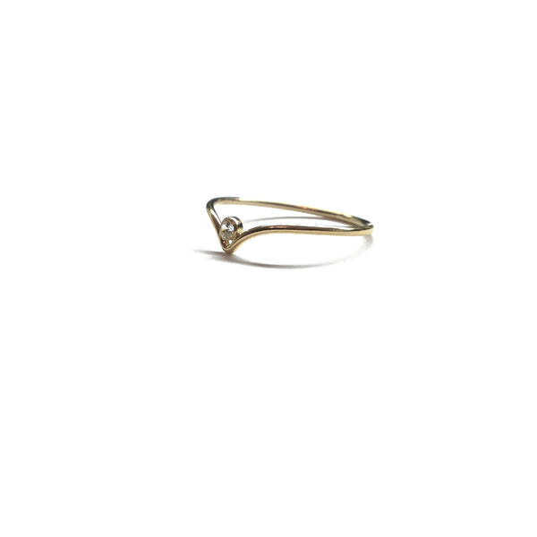 gold solitaire wedding band
