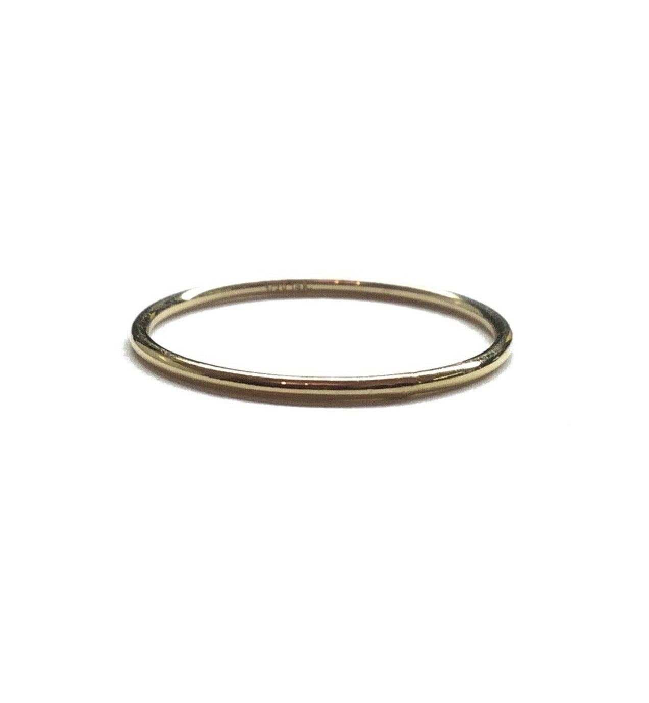 gold thin stacking ring