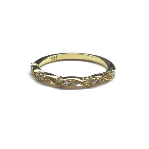gold cubic zirconia ring